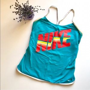 Vintage Style Nike Workout Tank With Built-In Bra